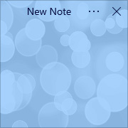 Simple Sticky Notes - Theme Bubbles - Screenshot [1]