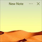 Simple Sticky Notes - Theme Desert - Screenshot [1]