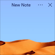 Simple Sticky Notes - Theme Desert - Screenshot [2]