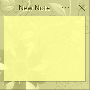 Simple Sticky Notes - Theme Spring Flower - Screenshot [2]